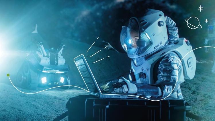 zuntz-optikoa-espazioan-astronauta